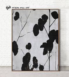 Abstract painting Modern Art, Minimalist Painting Canvas Art, hand painted oversized Flower Canvas P Art Floral, Large Canvas Wall Art, Canvas Art, Grand Art Mural, Black And White Painting, Black White, Flower Painting Canvas, Minimalist Painting, Mid Century Modern Art