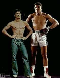 Bruce Lee and Muhammad Ali