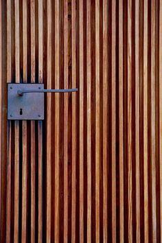 Peter Zumthor - Door handle detail at the St. Bendict Chapel, Sumvitg Via., Peter Zumthor - Door handle detail at the St. Bendict Chapel, Sumvitg Via.