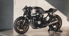 Less haute couture, more prêt-à-porter: Kaspeed of Germany are building a short run of very stylish customs based on the Honda Nighthawk. Honda Nighthawk, Honda Cb750, Honda S, Honda Motorcycles, Vintage Motorcycles, Custom Motorcycles, Yamaha, Cb750 Cafe Racer, Cafe Racer Motorcycle