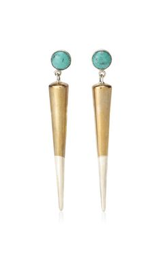 Pamela Love Spike Drop Earrings