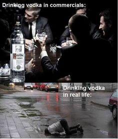 Drinking vodka