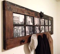 Old French Door Repurposed as DIY Coat Rack (With images) Old French Doors, Diy Coat Rack, Coat Racks, Door Coat Hanger, Entry Coat Rack, Coat And Hat Rack, Wall Hanger, Diy Casa, Old Windows