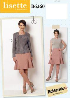 Gratis Reino Unido P/&p Butterick Damas fácil patrón de costura 6460 Plisado Skort Sh..