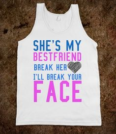 Best Friend heart tank top tee t shirt @Abbey Cameron this is being bought for you
