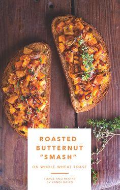 Vegetarian butternut squash toast recipe