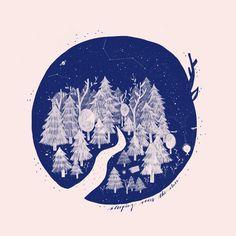 Sleeping under the stars by Kathrin Honesta