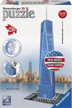 3D One World Trade Center - 216 pc puzzle