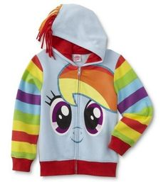 My Little Pony Rainbow Dash Jacket Girls Mane on The Hood Hoodie USA for sale online Latest Fashion For Girls, Girl Fashion, Rainbow Dash Costume, Dash Clothes, Girls Fall Dresses, Diy Barbie Clothes, North Face Girls, Kids Coats, My Little Pony