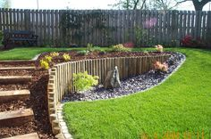 Small Sloped Backyard Landscaping Garden Design with 14 Clever Ideas How to Makeover Sloped Backyard Design Ideas Sloped Backyard Landscaping, Small Backyard Gardens, Backyard Garden Design, Diy Garden, Outdoor Gardens, Landscaping Ideas, Natural Landscaping, Small Patio, Patio Ideas