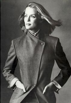 Lauren Hutton.  Photo by Irving Penn for Basile, 1980.