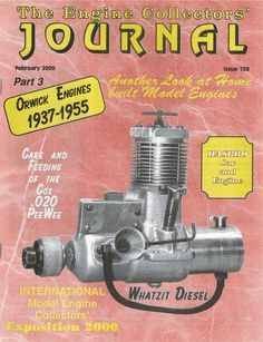 138 Engine Collectors Journal Orwick Cox PeeWee Hasbro Car Home Built model RC
