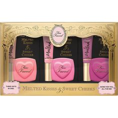 Too Faced Melted Kisses and Sweet Cheeks ($36) ❤ liked on Polyvore featuring beauty products, makeup, cheek makeup and blush