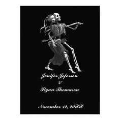 halloween wedding Invitation Personalized Announcements