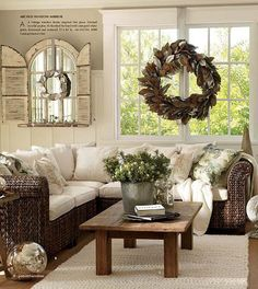 Decorate with old windows   #Reused, #Vintage, #Wood