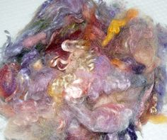 Spinning Fiber Hand dyed Lincoln Sheep Wool by LaTeaDaDesigns, $13.95
