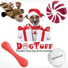 My tough chewers need durable toys to chew on!  Giveaway: DogTuff Holiday Toy Package!
