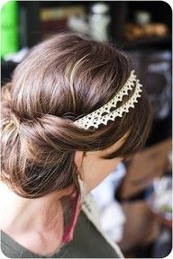 Awesome hair and headband for my wedding. Keeps the elegance after the veil is removed for the reception.
