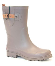 Love this Gray Mid-Calf Rain Boot by Chooka & Western Chief on #zulily! #zulilyfinds