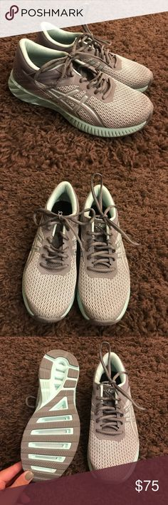 Asics Ortholite walking shoes New without tags - never been worn and in perfect condition! True to size, size 7.5 in women's. Color: gray and blue. Asics Shoes Athletic Shoes