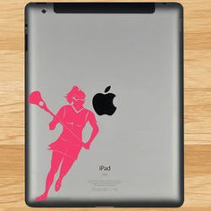 Lacrosse Girl Player Removable LulaGraphix Tablet Decal. Laptop  DecalLacrosseLaptops