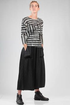 083e86c5af PLEATS PLEASE Issey Miyake - Hip-Length T-Shirt In Polyester Plissé With  Vertical Narrow Pleats, Bicolor Print