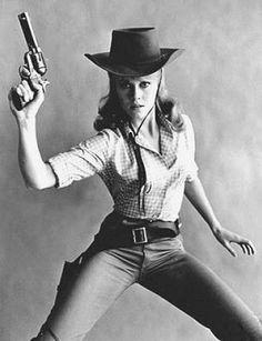Jane Fonda in Cat Ballou - my favorite movie as a child.