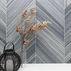 Milan Gray Chevron l Honed Marble Tile Honed Marble, Marble Tiles, Wall Tiles, Gray Marble, Gray Shower Tile, Grey Tiles, Chevron Tile, Grey Chevron, Best Floor Tiles