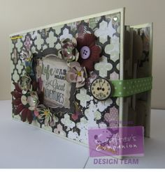 Large BoBunny Photo Album using crafters companion dies and card stock by Gemma Hynes Crafters Companion, Mini Books, Hello Everyone, Mini Albums, Card Stock, Paper Crafts, Shapes, Crafty, Frame