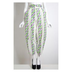 Rare vintage 1980s Fong Leng high waisted trousers pants by VintageKabinet on Etsy
