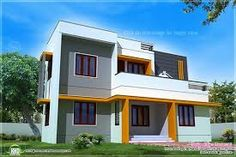 sq feet modern contemporary home exterior home kerala plans square feet contemporary home exterior house design plans best free home design idea - Simple Exterior House Designs In Kerala