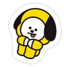 Pegatinas «BTS BT21 CHIMMY» de interludewings   Redbubble Printable Stickers, Cute Stickers, Dog Emoji, We Bare Bears Wallpapers, Overlays, Tumblr Stickers, Bts Chibi, Aesthetic Stickers, Bts Jungkook