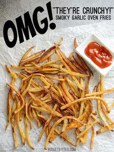 Smoky Garlic Oven Fries - BudgetBytes.com