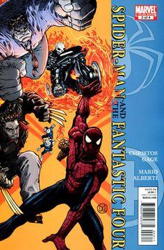 Spider-Man/ Fantastic Four # 3 by Mario Alberti