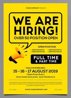 11 recruitment poster design ideas in