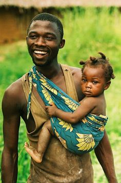 Wonderful. A man and child, smiling, happy, looking healthy. Thank God for men like this.