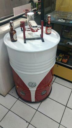 Tambor de 200 litros, Kombi corujinha com faróis