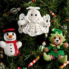Christmas Itty Bitties crochet Christmas ornaments