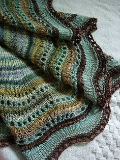 Whippoorwill Shawl By Carina Spencer - Purchased Knitted Pattern - (ravelry) Knitting Stitches, Knitting Yarn, Hand Knitting, Knitting Patterns, Crochet Patterns, Knitting Machine, Knitted Shawls, Crochet Scarves, Knit Or Crochet