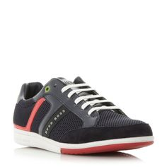 Hugo Boss Spacit Lace Up Trainers, Dark Blue