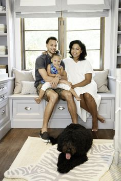 Steph Curry with his daughter and wife in their new nursery