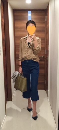Silk shirt: Uniqlo, Denim: ZARA, Bag: la kagu, Green heels: COLE HAAN