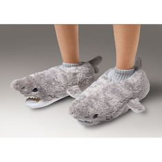 COZY SHARK SLIPPERS - Dear LORD I have got to get me a pair of these!!!! 8DDD