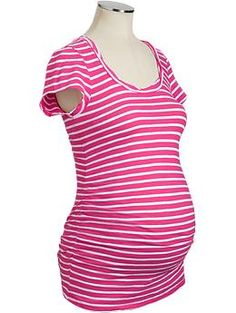 Maternity Ruched Slub-Knit Scoop Tees | Old Navy