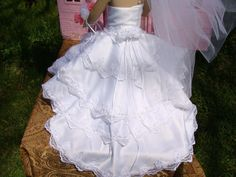 American Girl Wedding Gown by NormasSpecialDays on Etsy