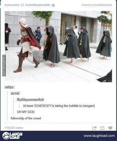 Makes a better escort than Gollum...