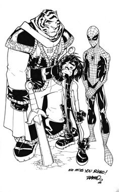 Humberto Ramos' tribute to Mike Wieringo #Ringo