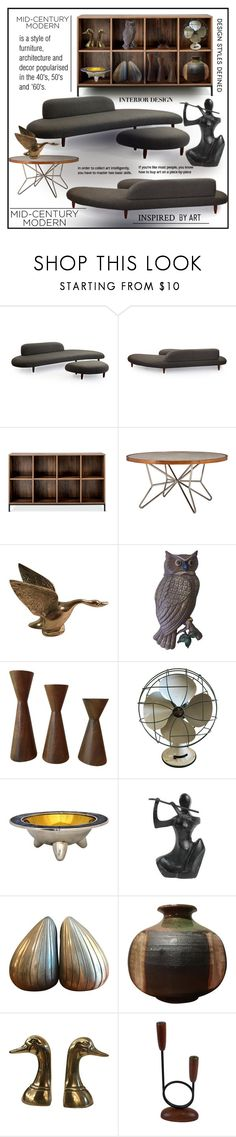 """Mid-Century Modern"" by eco-art ❤ liked on Polyvore featuring interior, interiors, interior design, home, home decor, interior decorating, Threshold, Emerson, BoConcept and modern"