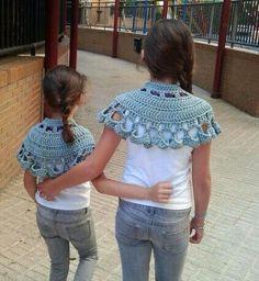 Poleo menta Crochet Collar, Crochet Hats, Collar Necklace, Shawl, Virginia, Collars, Crochet Necklace, Knitting, Fashion