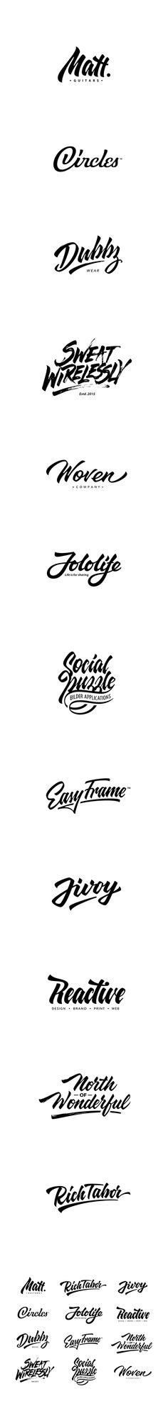 Typography Lettering logotypes compilation 2 on Behance Script Lettering, Typography Letters, Typography Logo, Lettering Design, Handwritten Logo, Typography Inspiration, Logo Design Inspiration, Logos Vintage, Calligraphy Words